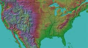 united states map landforms landform map of the united states