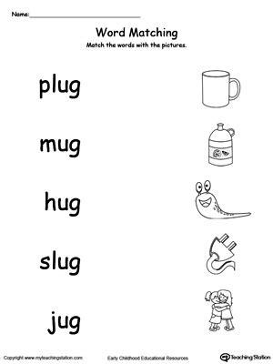 word family worksheets 3 letter ug word family workbook for kindergarten myteachingstation