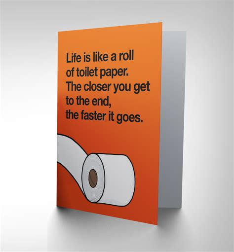 Paper Gift Card - new birthday toilet paper roll humour fun art greetings card gift cp1563 ebay