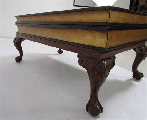 maitland smith stacked leather book form coffee table at