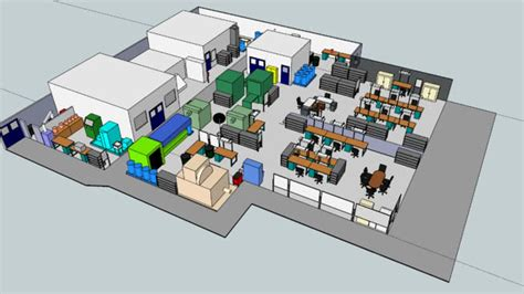 warehouse layout models factory layout 3d warehouse