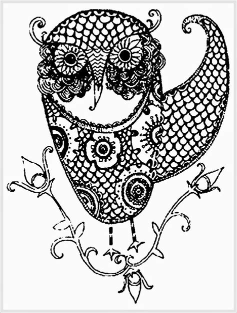 10 difficult owl coloring page for adults 10 difficult owl coloring page for adults
