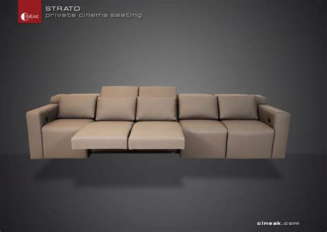 Home Theatre Sofas by Media Room Sectional Sofa By Cineak Gt Gt Strato Modern