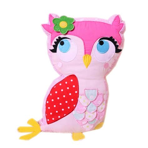 Pink Owl Pillow by Owl Cushion
