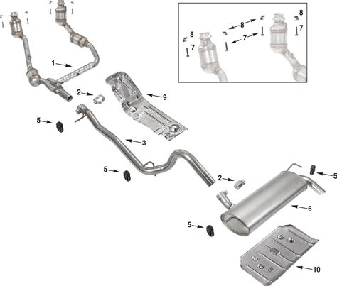 muffler diagram 2002 jeep liberty exhaust system diagram 2002 get free