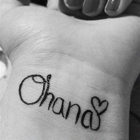 ohana means family tattoo ohana