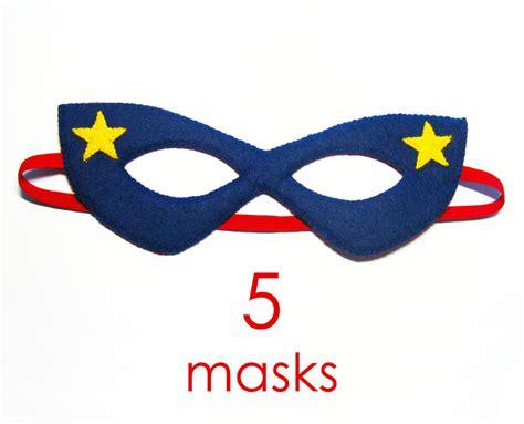 pattern for felt superhero mask 5 felt superhero masks party pack for kids sale dress up