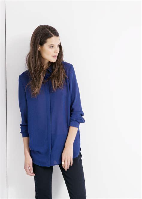 Limited Basic Chiffon Blouse basic chiffon blouse blouses voor mango