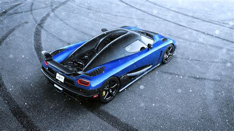koenigsegg snow koenigsegg agera hh blue supercar snow speed motors cars