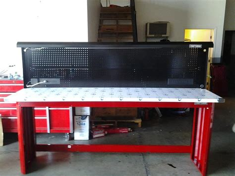 craftsman work bench  feet stainless steel top