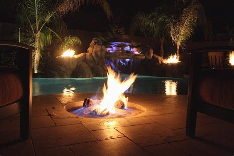 pool fire pit come on baby light my fire pool fun fresno clovis