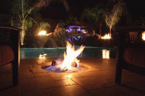 pool fire pit pictures for unique custom pools llc in phoenix az 85254