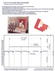 step ladder card template 1000 images about templates on card templates