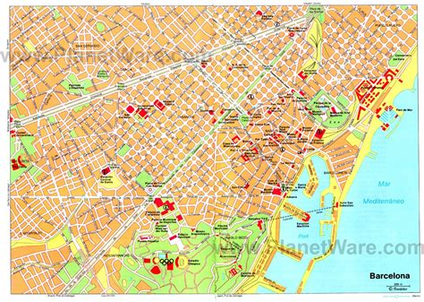 printable map barcelona city centre 11 top rated tourist attractions in barcelona planetware