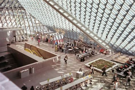 Glass Table Dining Room by A Library For All Seattle Public Library Washington Usa