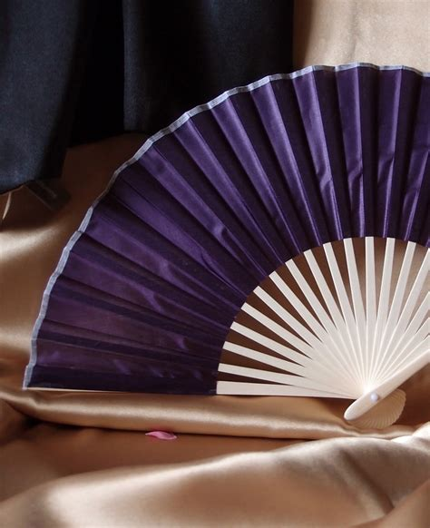 chinese fans for sale 9 quot dark purple chinese folding silk hand fan for weddings
