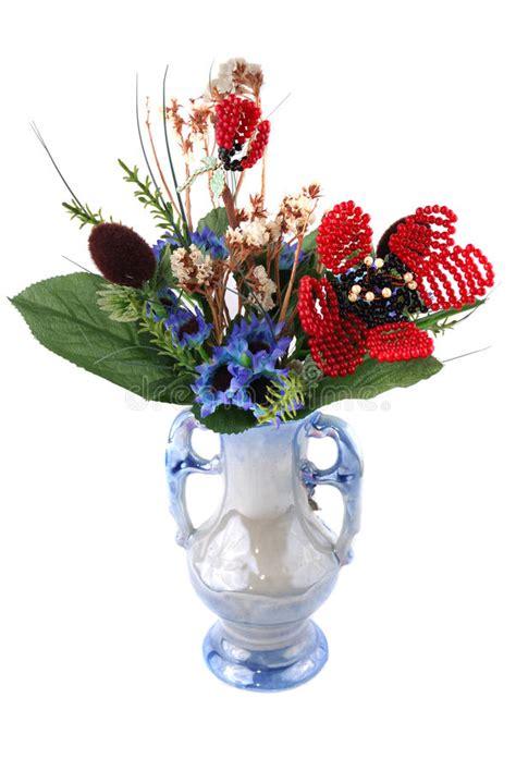 stock fiori artificiali vaso con i fiori artificiali fotografia stock immagine