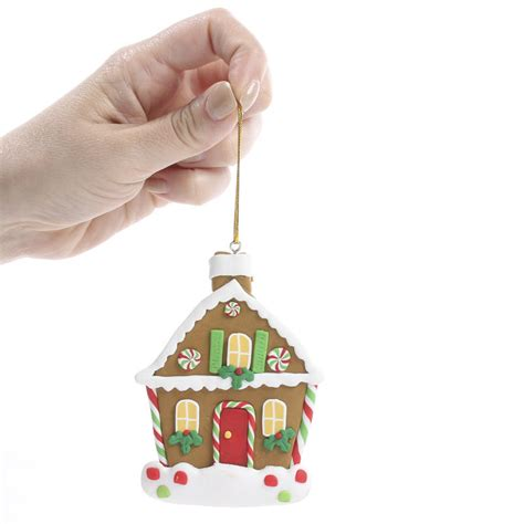 polymer ornaments polymer clay gingerbread house ornament