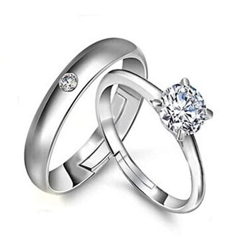 silver ring wedding band his