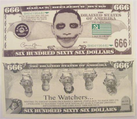 Obama Background Check Bill 10 Obama Barack Beelzebub Novelty Dollar Bills For Sale At Gunauction 9719198