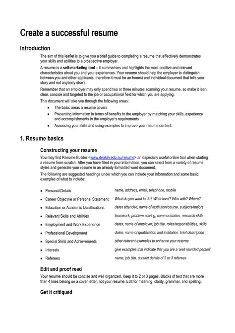 resume sample architect technical cv work experience key skills and