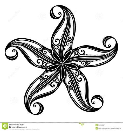sea star tattoo designs sea starfish stock vector illustration of graphic