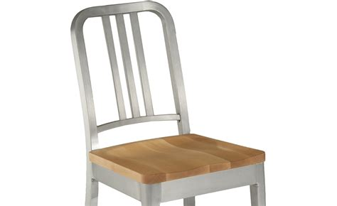 Navy Chair by Emeco Navy Chair With Wood Seat Hivemodern