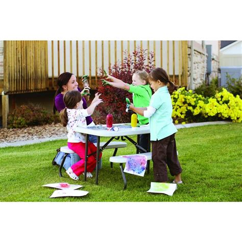 home depot child picnic lifetime 35 1 2 in x 32 1 2 in kids picnic table with