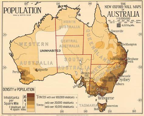 australia on a map 1920s population density map of australia australia