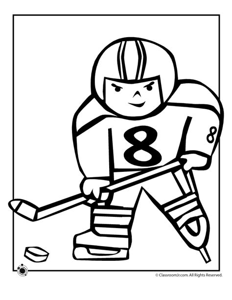 hockey color pages coloring home