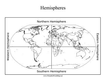 the northern eastern southern and western hemispheres