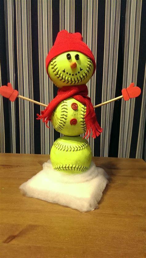 softball snowman baseball snowman