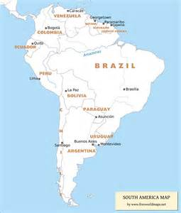 america map countries and capitals free pdf maps of south america