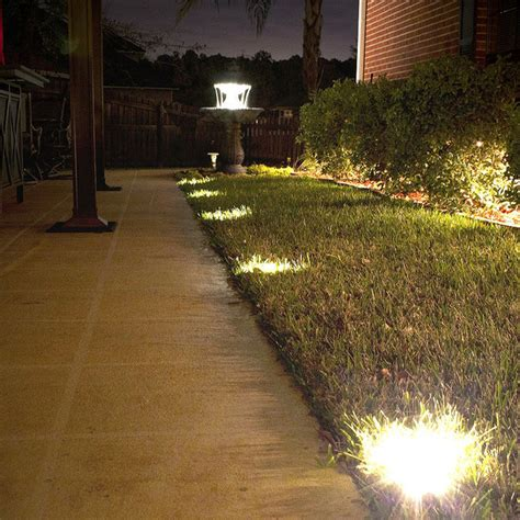 In Ground Lights Outdoor Solar Ground Deck Lights Traditional Outdoor Lighting