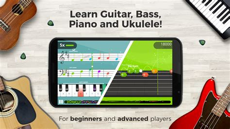 guitar tuna apk yousician learn guitar piano bass ukulele app ranking and store data app