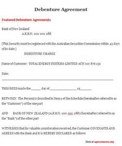 debenture agreement sample debenture agreement template