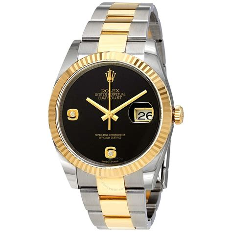 Rolex Oyster Rantai Gold rolex oyster perpetual datejust onyx steel and 18k yellow gold s