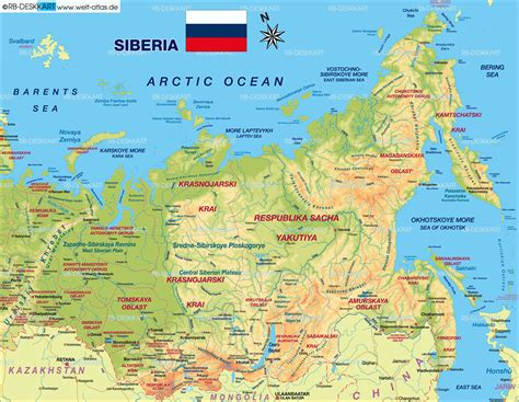 russia maps siberia maps map of siberia russia map in the atlas of the world