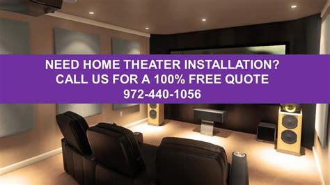 home theater installation dallas tx    home