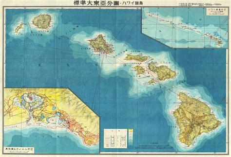 map world hawaii file 1943 japanese world war ii aeronautical map of hawaii