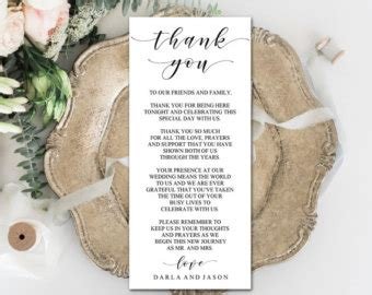 thank you place cards template place card etsy