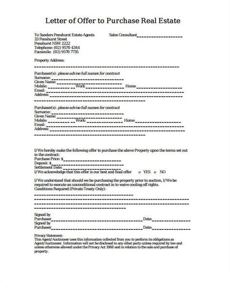offer letter examples ms word pages google