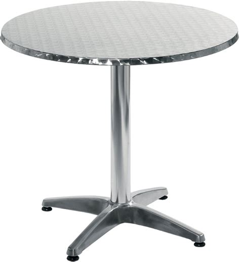 stainless top dining table in patio dining tables