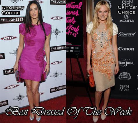 Get Look Demi Moores Miu Miu Coffer by Best Dressed Of The Week Demi In Marchesa Malin