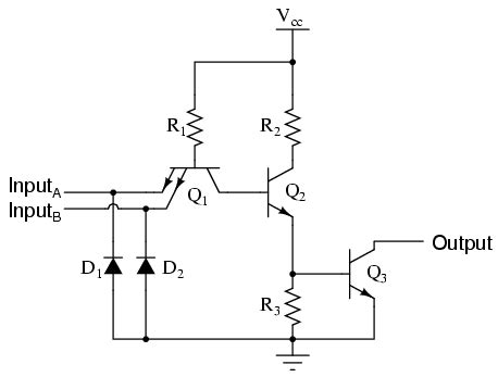 transistor buffer gate ttl nand and and gates logic gates electronics textbook