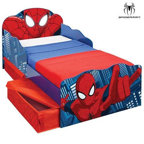 spiderman in bed lit enfant achat lit spider man lumineux avec rangements