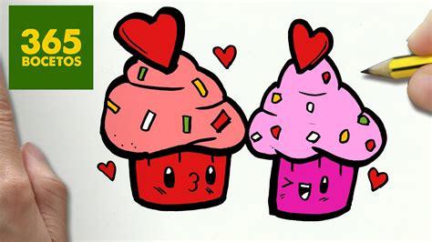 imagenes kawaii para dibujar de amistad como dibujar cupcakes kawaii paso a paso dibujos kawaii