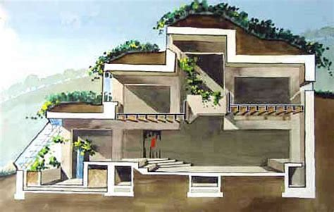 earth sheltered homes and berm houses a great cutaway