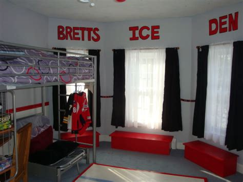 cool hockey bedrooms hockey room ideas design dazzle