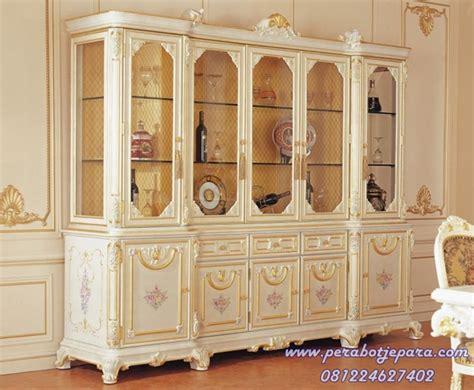 Lemari Kayu Bekasi jual harga lemari hias 5 pintu bekasi murah model terbaru perabot jepara perabot jati toko